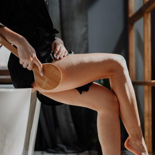 Leg cellulite